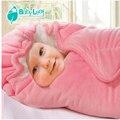 Новорожденный конверт Одеяло Drawstring балахон детские прием Одеяло мягкий бархат ребенка спальный мешок теплый wrap пеленать