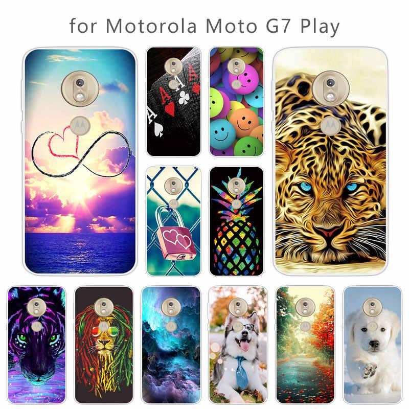 TPU Fundas Için Motorola Moto G7 Oyun Desen Silikon Koruyucu Kapak Için Moto G7 Oynamak Ultra Temizle Jel Skuli Telefonu durumlarda