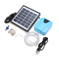 Solar Powered Air Pump DC 5A Charging Oxygenator Water Oxygen Pump Pond Aerator With 1 Air