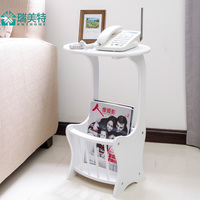 Phone Magazine Modern Minimalist Sofa Side Table Sofa Corner A Few European Newspapers Stand Telephone Station