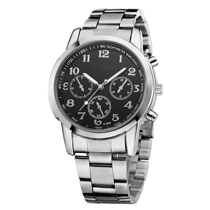 Luxury Men Watches 2017 Fashion Business Etiquette Three Six pin Quartz Watch Wristwatches Male Clock Watches