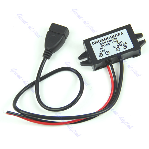 1PC Output Power Adapter DC DC Converter Module 12V To 5V USB New