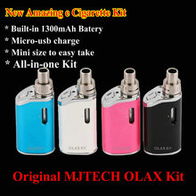 Original Mjtech OLAX e Cigarette Starter Kit 1300 mAh Batería 40 W Caja Mod Todo-en-un Kit VS CE4 eGo Cigarrillo electrónico