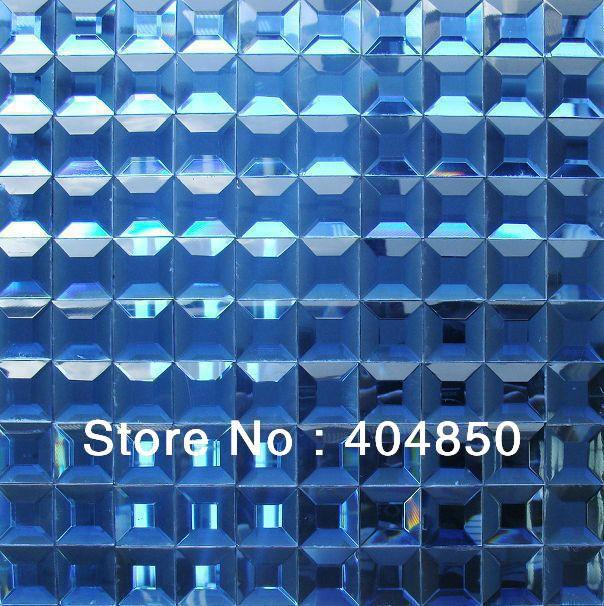 Ländlichen Stil Diamant Glasmosaik Fliesen Blau Diamant Spiegel - Glasmosaik fliesen blau