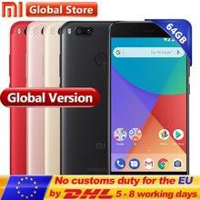 Глобальная версия Сяо Mi A1 Mi A1 Snapdragon 625 8-ядерный смартфон 4 ГБ 64 ГБ отпечатков пальцев FDD 5.5″ android один двойной 12.0mp Камера