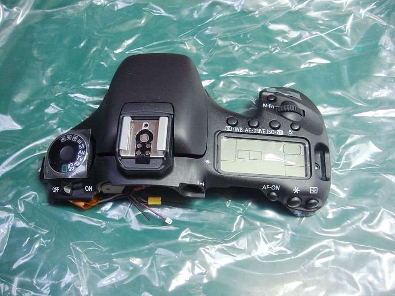 original Top cover assy with Shoulder screen and Push button switch Repair parts for Canon 7D