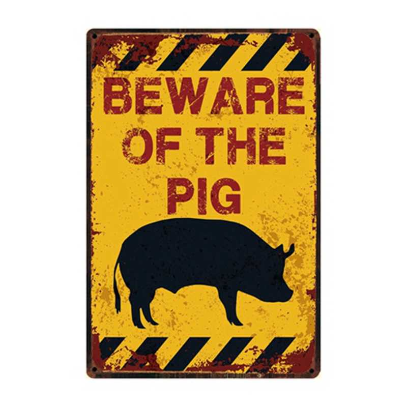 [Kelly66] Остерегайтесь собаки свиньи лошади волка обезьяны металлический знак оловянный плакат домашний Декор Бар настенная живопись 20*30 см размер Dy82