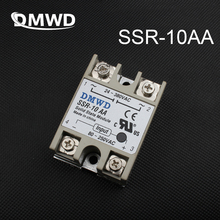 1pcs Free shipping solid state relay SSR-10AA 10A actually 80-250V AC TO 24-380V AC SSR 10AA relay solid state High quality