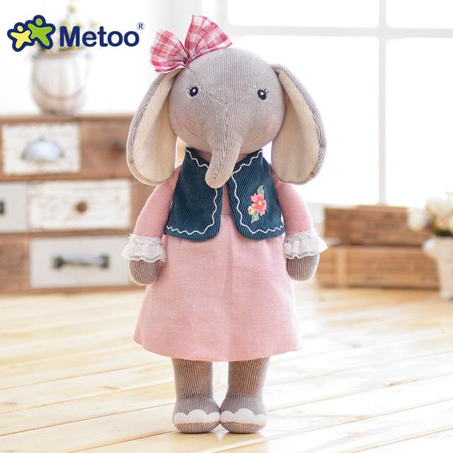 30cm Kawaii Stuffed Baby Kids Toys for Girls Birthday Christmas Gift Plush Sweet Cute Lovely 12.5 Inch Elephant Metoo Doll