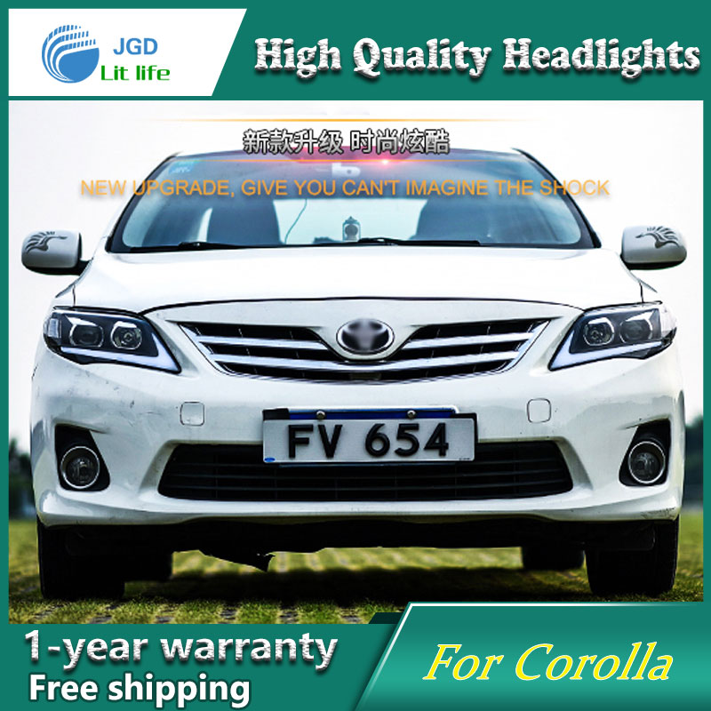 high quality Car Styling for Toyota Corolla 2011 Headlights LED Headlight DRL Lens Double Beam HID Xenon Car Accessories car styling good quality ityaguy oxygen sensor o2 sensor for toyota corolla wish oem 89467 12100 8946712100