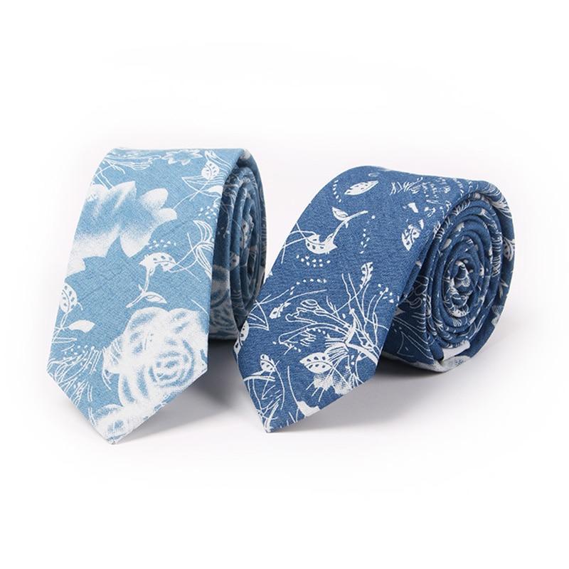 Mantieqingway 6,5 cm kokvilnas apdruka - vīriešu kaklasaite kāzu - Apģērba piederumi - Foto 1