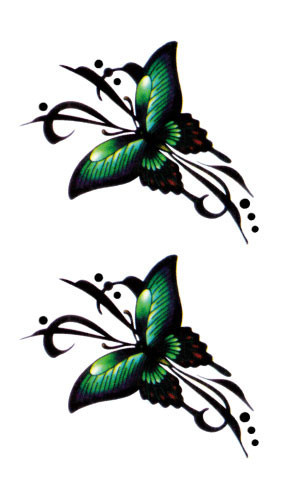 green butterfly tattoos promotion shop for promotional green butterfly tattoos on. Black Bedroom Furniture Sets. Home Design Ideas