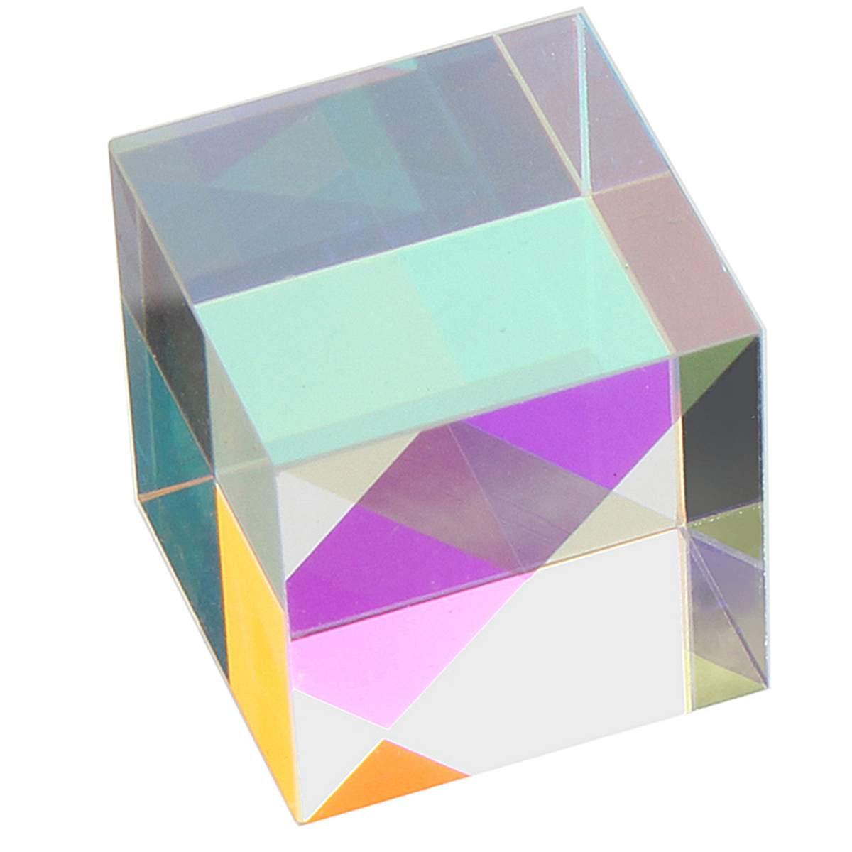 20x20mm K9 Cube Prism Laser Beam Combine Cube Splitter Glass Decor Square Cube RGB Instruments Teaching Tools Decoration