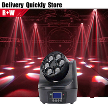Show Time Mini Bee Beam Moving Head 6pcs 10W RGBW 4IN1 Effect Light Good Use for Home entertainment party KTV Night Club Dance