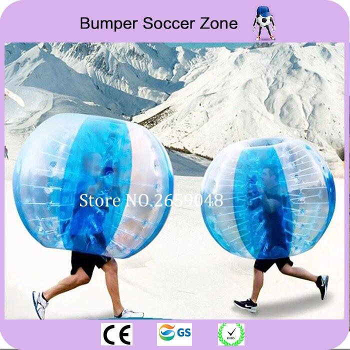 Envío gratis 0.8 mm 100% TPU 1.5 m Burbuja inflable balón de fútbol Bumper Bubble Ball Body Zorb Ball Air Ball Bubble Fútbol
