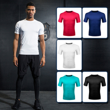 2019 mens gymnastics compression T-shirt quick-drying fitness stretch sportswear