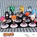 "Frete Grátis Bonito 3 ""Mini Naruto Akatsuki Membro 11 pcs Definir A 17ª PVC Action Figure Toy Model Collection (11 pcs por o jogo)"