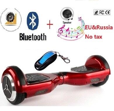 Цена за 6.5 дюймов Электрический скейтборд hover доска балансируя скутер скейтборд hoverboard bluetooth умный баланс 2 колеса скутера