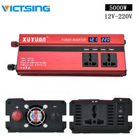 VicTsing 5000W Power Inverter DC 12V to AC 220V 4 USB Ports 2 Sockets for Camp Portable Inverter Charger Vehicle Accessories