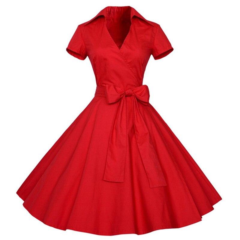 Mulheres Vestido de Verão plus size roupas Audrey hepburn Floral robe Retro  Balanço 50 s Rockabilly Do Vintage Vestidos Casuais 674 4c6e50f9b233d