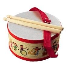 Барабаны Дерево Дети раннего образования музыкальный инструмент для детей Игрушки для маленьких детей бить инструмента ручной Барабаны Игрушечные лошадки