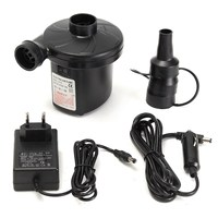 240V 12V Electric Air Pump Inflator Nozzles Inflatable AirBed Mattress Boat Pool