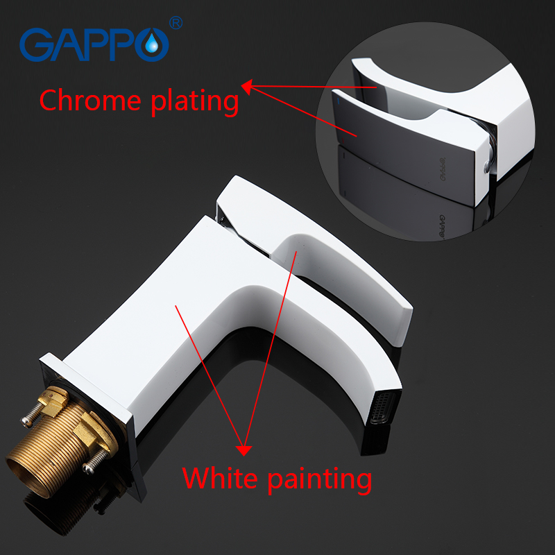 GAPPO high quality waterfall bath sink faucet torneira mixer restroom sink shower faucets and Basin Faucet GA3207 8 GA1007 8 in Bathtub Faucets from Home Improvement