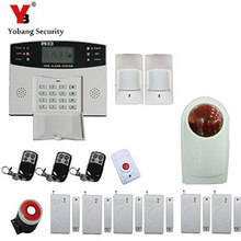 YobangSecurity 433MHz Wi-fi GSM Alarm System for House Metallic Distant Management LCD Show Keyboard Voice Immediate Alarm Sensor Equipment