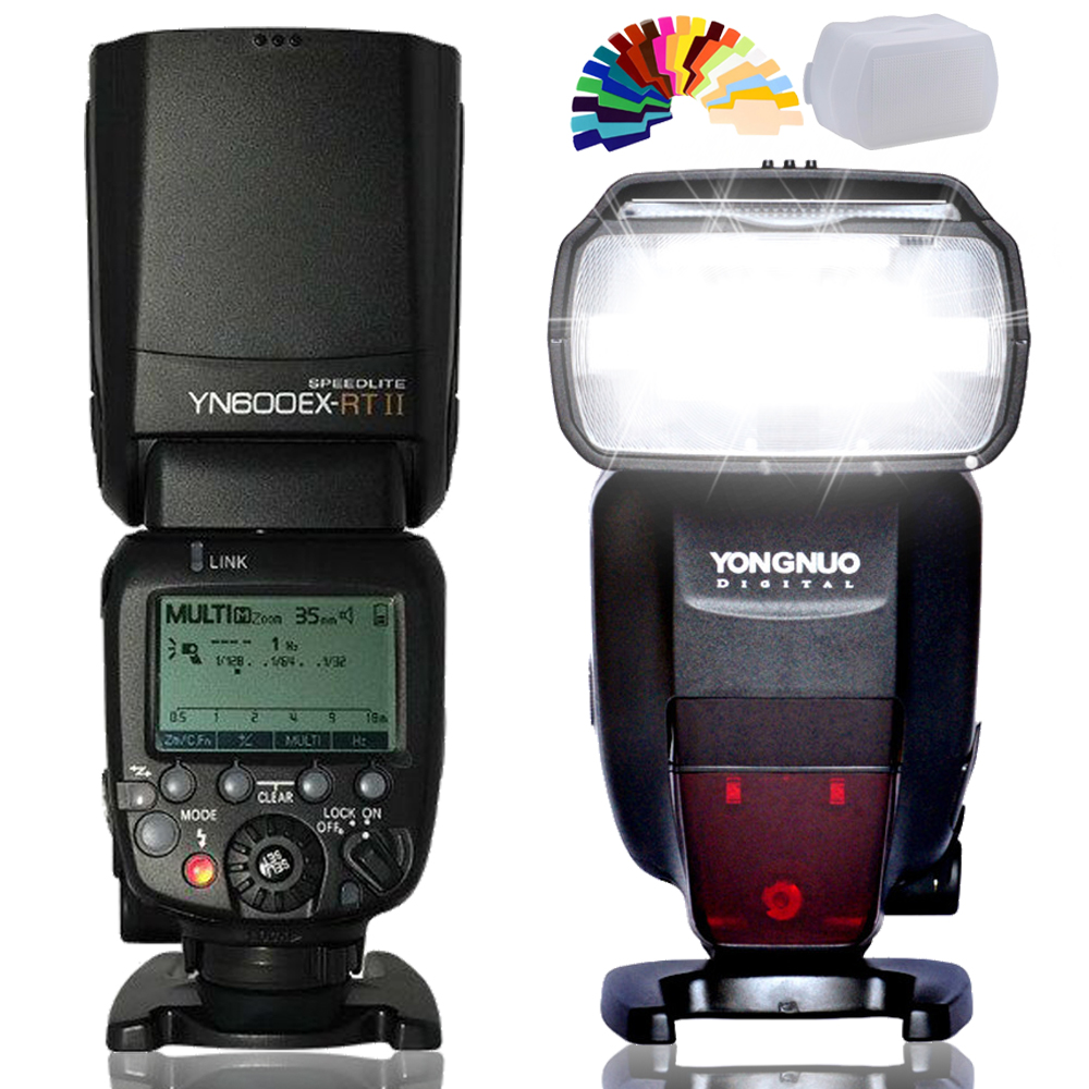 INSEESI 2.4G YN600EX-RT II  Wireless HSS 1/8000s Master TTL Flash Speedlite for Canon Camera as 600EX-RT VS YN685C YN685N yongnuo yn e3 rt ttl radio trigger speedlite transmitter as st e3 rt compatible with yongnuo yn600ex rt