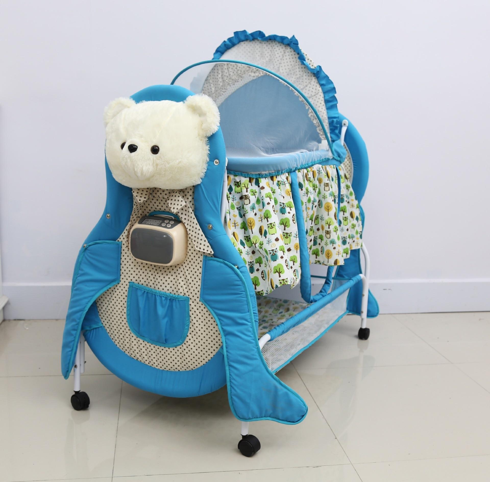 Multifonctionnel berceau nouveau-né bébé berceau électrique balançoire musique bébé électrique chaise à bascule shaker