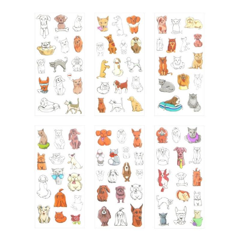 Купить с кэшбэком 6pcs/lot Puppy paper sticker DIY decoration sticker for album scrapbooking diary kawaii  office School Supplies stationery
