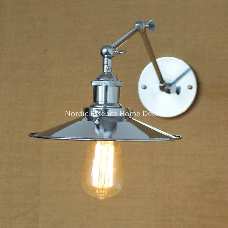 ФОТО American countryside modern minimalist fashion creative mirror long arm study bedroom restaurant bedside iron wall lamp sconce