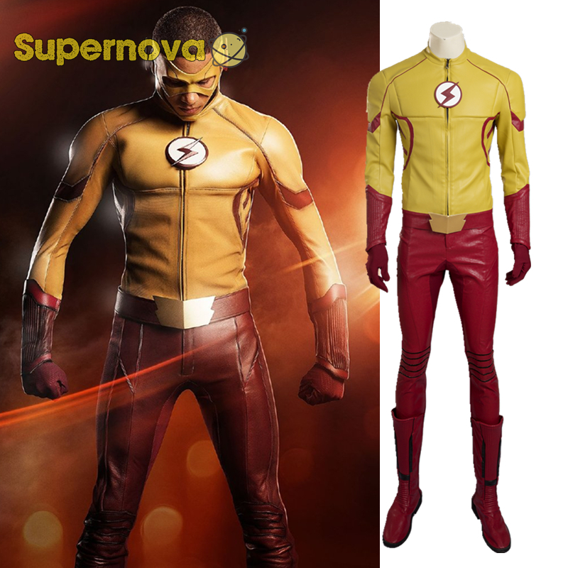 Supernova Kid Flash Cosplay Costume The Flash Season 3 Costume Cosplay Wally West Costume Halloween Costumes for Adult Men