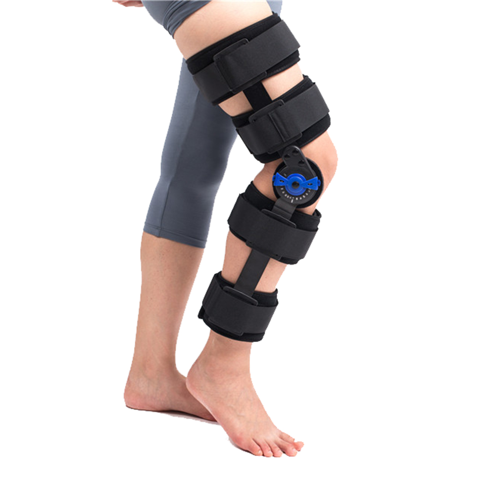 Hinged Knee Braces Supports High Quality Adjustable Factory direct sale Prevent hyperextension orthopedic knee pads knee braces orthosis knee support medical orthotic devices rom hinged adjustable prevent hyperextension