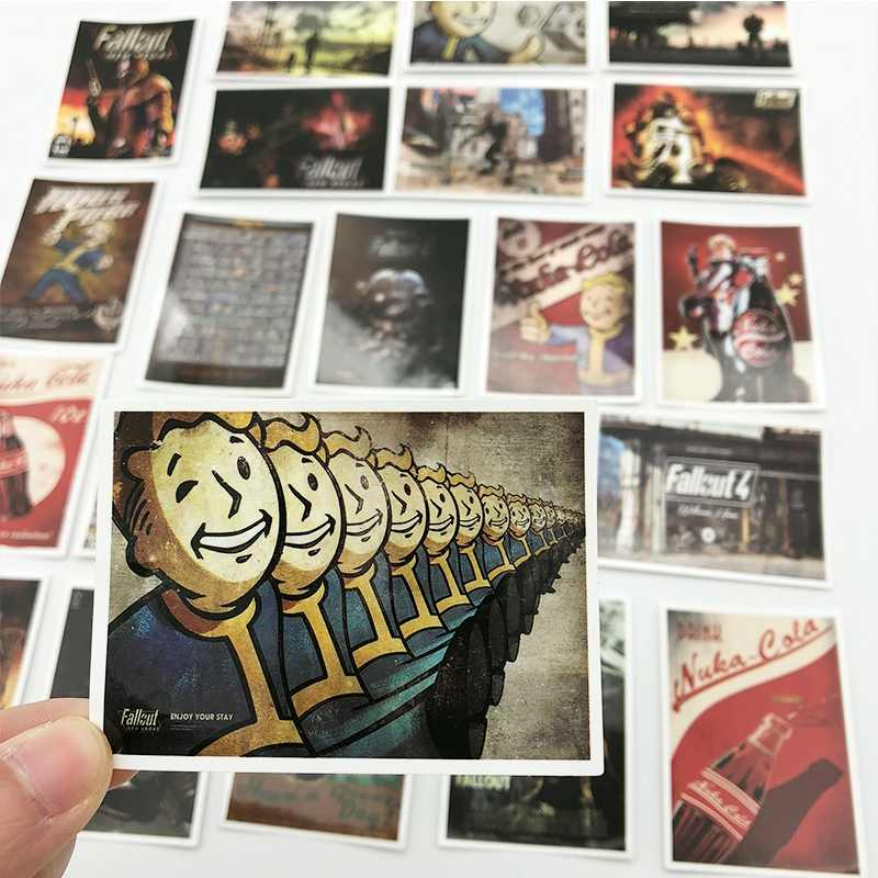25 adet Fallout 3 4 oyun Sticker bagaj kaykay telefon Laptop Moto bisiklet duvar gitar su geçirmez PVC çıkartmalar