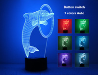 Football Soccer Lamp 3D Night Light Kids Toy LED 3D Touch Table Lamp 7 Colors Flashing LED Light Christmas Decorations for Home