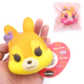 20pcs/Lot,8.5cm  PU soft Cute little flower Fox Squishy Charm / Bag Decorations / Decompression Toys
