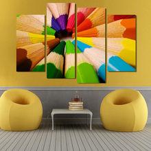 4 шт картина маслом для домашнего декора цветные карандаши hd