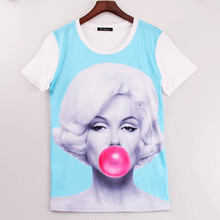 2016 New brand Fashion Crop Top harajuku t shirt women Short Sleeve camisetas mujer camisetas y tops s m l