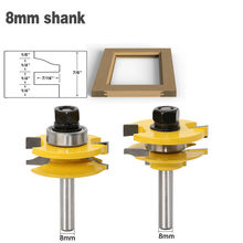 2pcs/set 8mm Shank 2 Bit Rail & Stile Router Bit Set Router Bits For Wood Tungsten Carbide Woodworking Milling Cutter(China)