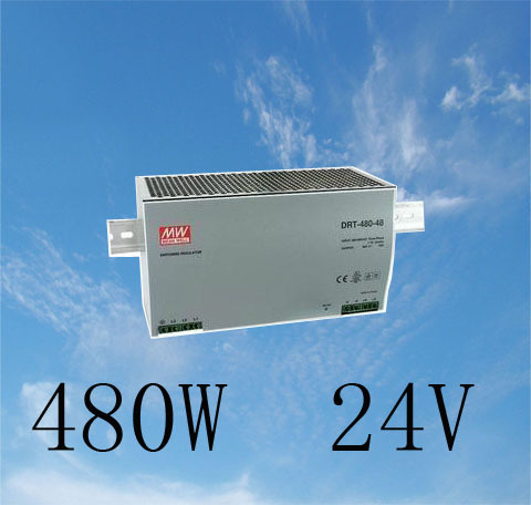цена на Din rail power supply 480w 24V power suply meanwell ac dc converter DRP-480-24 480W 20A 24V Industrial Original MEAN WELL