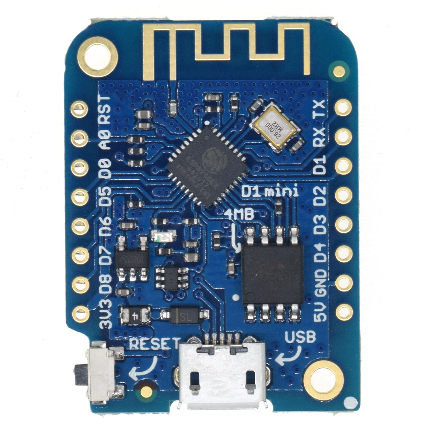 WEMOS D1 mini V3.0.0 - WIFI Internet of Things development board based ESP8266 4MB MicroPython Nodemcu Arduino Compatible