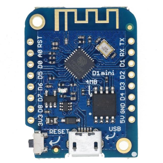 LOLIN D1 mini V3.1.0-WEMOS WIFI de Internet de las cosas, placa de desarrollo en ESP8266 4 MB MicroPython Nodemcu Compatible con Arduino