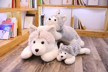 1pc 90cm/110cm Cute  Husky Dog Plush Toys Stuffed Soft Dog Animal Pillow Cushion Kids Lovely Doll Girls Christmas 18cm genuine husky plush toys cute soft animal dog toys doll creative gift for kids birthday gift