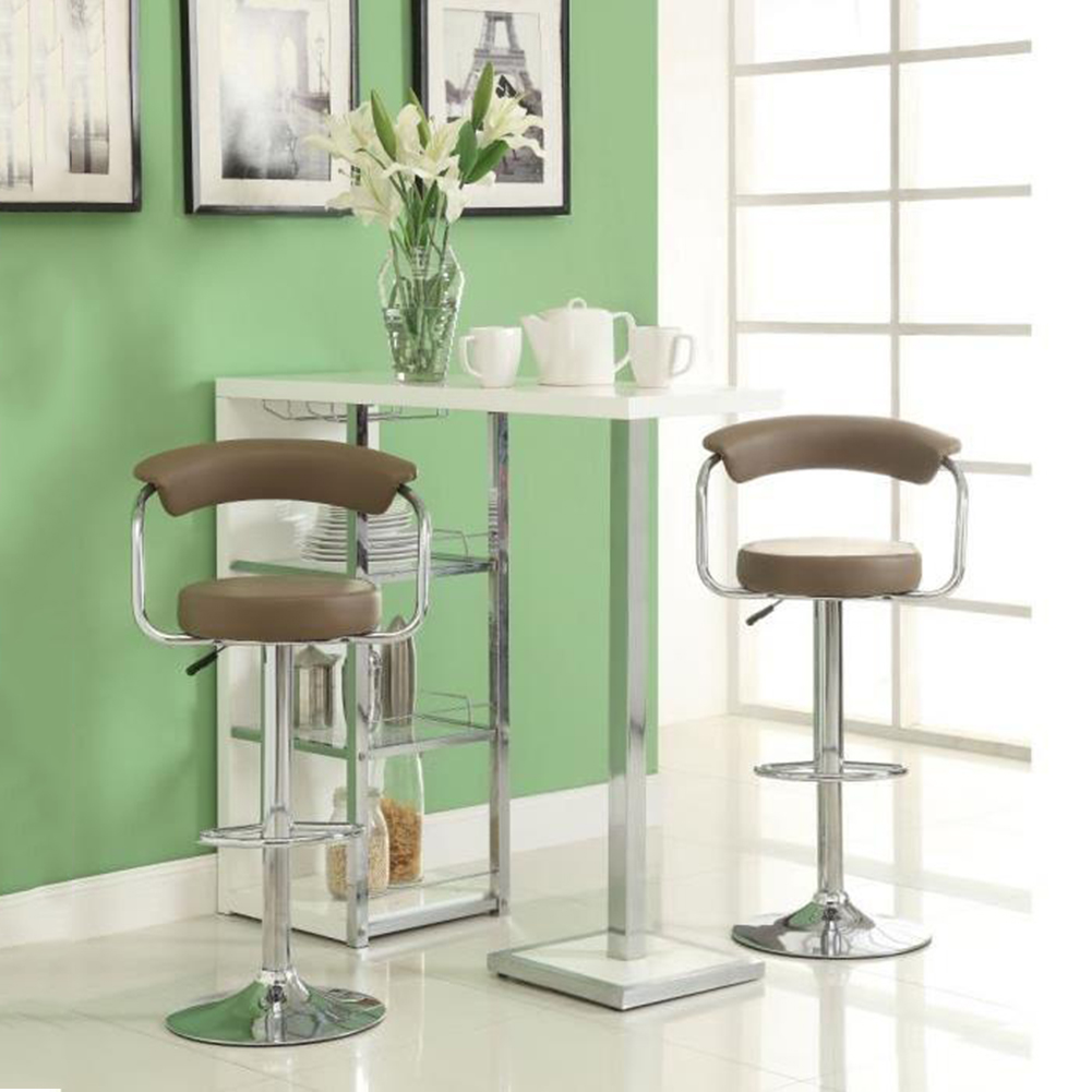 JEOBEST 2pcs Leather Swivel Bar Stools Chairs Height Adjustable Pneumatic Counter Pub Bar Chair Free Shipping In France HWC
