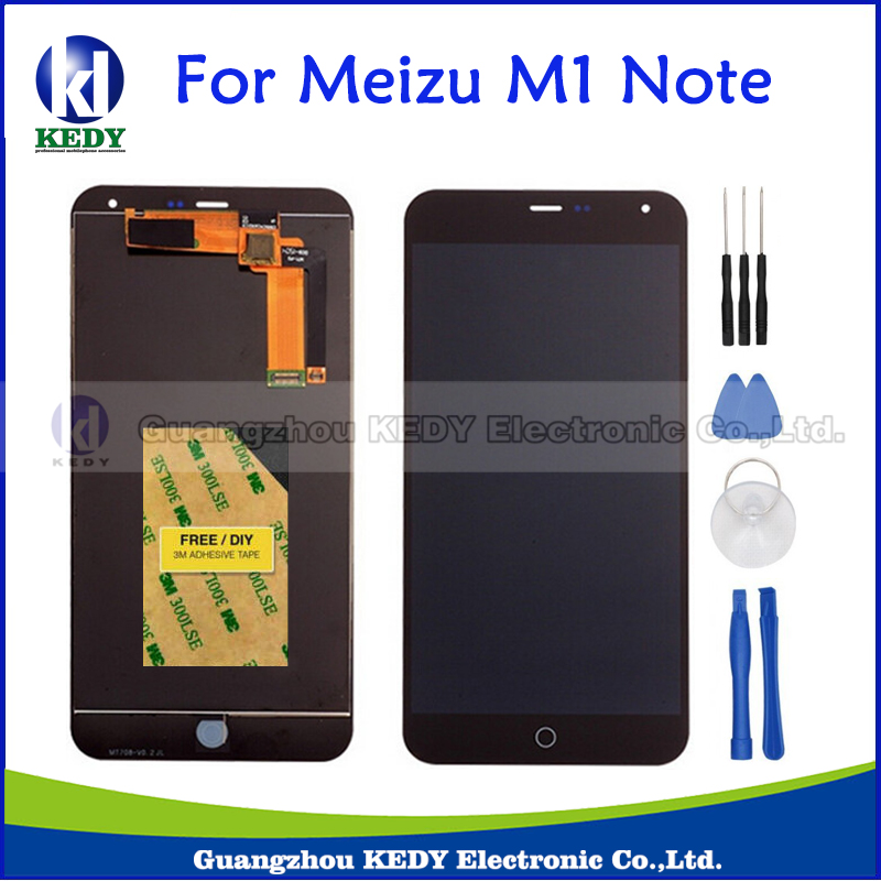 цены на LCD Screen For Meizu M1 Note New Original LCD Display +Digitizer Touch Screen Replacement Assembly Black+Tools+Adhensives