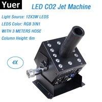 New Design 12X3W LED CO2 Jet Machine Professional Stage Lighting Effect Machine DMX Led American DJ CO2 Jets With 3 Meter Jose