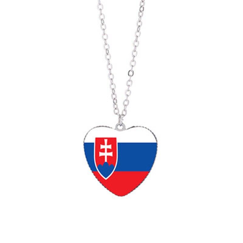 Military Necklace Flag Of Saint Lucia Custom Zinc Alloy Pendant Necklace Dog Tags