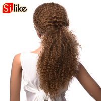 Silike 200g Synthetic Wigs For Black Women Long Afro Kinky Curly Wig African Hairstyle Kanekalon Wigs