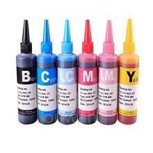 6 цветов x 100 мл СНПЧ заправка чернил для EPSON Stylus Photo 1400 1500 Вт P50 Artisan 1430 PX650 PX660 PX660 принтер T0821N T0811N